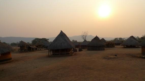Mosambik, Zumbo, Hütte